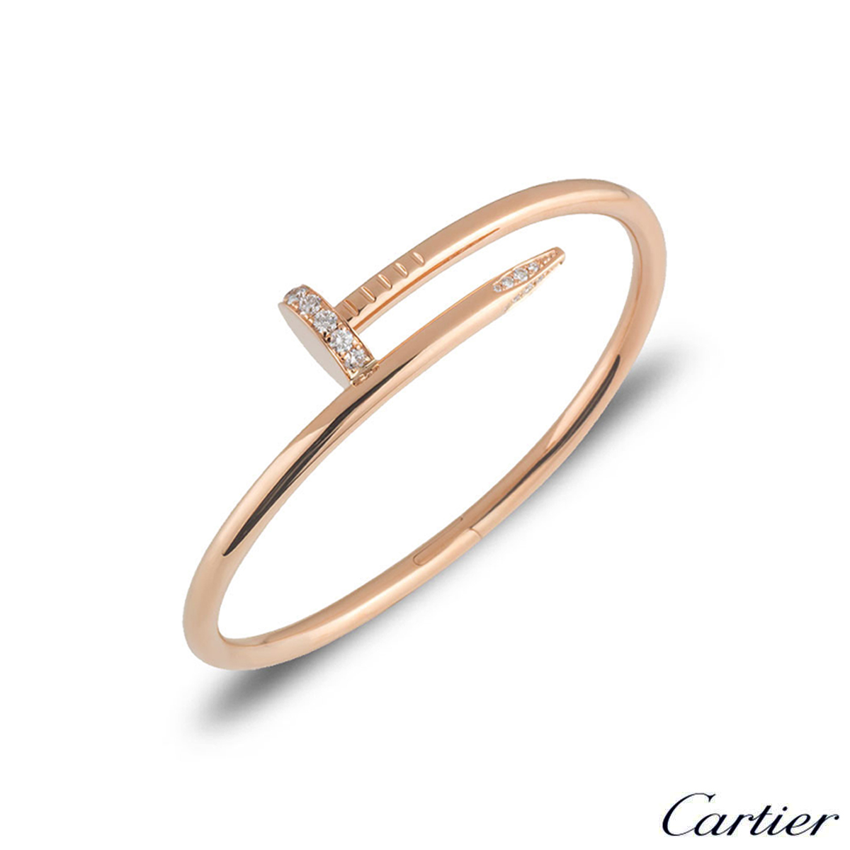 Cartier Rose Gold Diamond Juste Un Clou Bracelet Size 18 B6048518